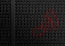 Красная предпосылка конспекта музыки бесплатная иллюстрация