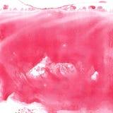 Красная предпосылка краски акварели, помечая буквами эскиз scrapbook Стоковое Изображение RF