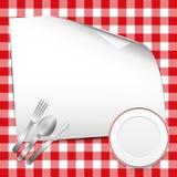 Красная предпосылка ресторана Стоковые Изображения RF