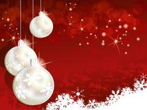 Красная предпосылка рождества Стоковое Фото