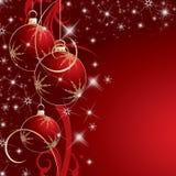 Красная предпосылка рождества Стоковые Изображения RF