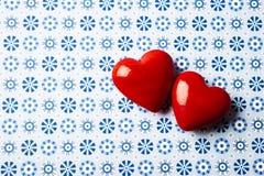 Красная предпосылка сердец Стоковая Фотография