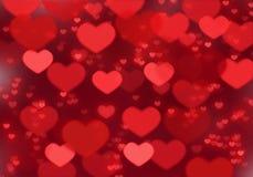 Красная предпосылка сердца; Предпосылка дня ` s валентинки стоковое изображение rf