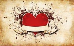 Красная предпосылка сердца Стоковые Изображения RF