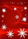 Красная предпосылка снежинки Стоковое фото RF