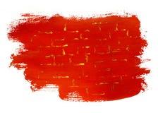 Красная предпосылка с золотыми нашивками Стоковая Фотография