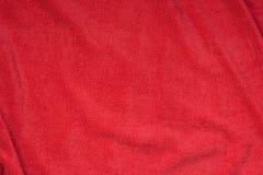Красная предпосылка текстуры полотенца Terry Стоковые Изображения