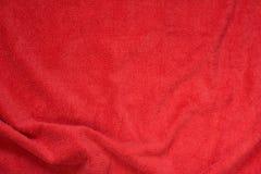 Красная предпосылка текстуры полотенца Terry Стоковое фото RF