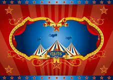 Красная предпосылка экрана цирка Стоковое фото RF