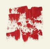 Красная предпосылка acrylic grunge Стоковое Фото