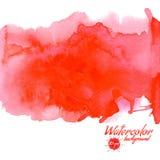 Красная предпосылка вектора акварели для текстур и предпосылок Стоковая Фотография RF