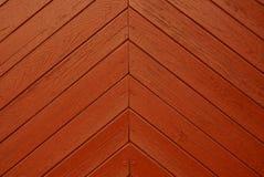 Красная предпосылка деревянных доск двери Стоковое фото RF