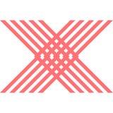 Красная предпосылка дизайна логотипа формы x Стоковые Фото