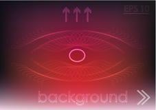 Красная предпосылка и белые линии Стоковое фото RF