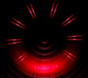 Красная предпосылка конспекта неонового света круга Стоковое Изображение