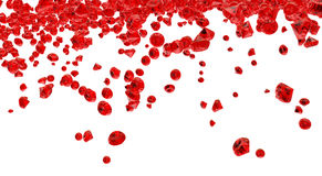 Красная предпосылка кристаллов Стоковые Фотографии RF