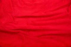 Красная предпосылка одеяла Стоковая Фотография