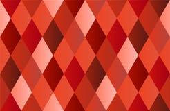 Красная предпосылка полигона диаманта Стоковое Изображение RF