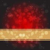 Красная предпосылка рождества Стоковые Изображения