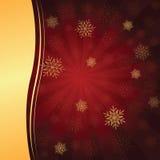 Красная предпосылка рождества иллюстрация вектора