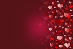 Красная предпосылка сердец. Стоковое Изображение RF