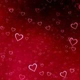 Красная предпосылка сердец Стоковые Фотографии RF