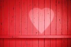 Красная предпосылка сердца валентинки Стоковая Фотография RF