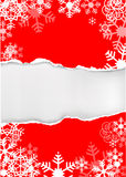Красная предпосылка снежинок grunge Стоковые Фото