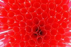 Красная предпосылка соломы Стоковое Фото
