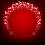 Красная предпосылка с круглой рамкой Стоковое фото RF