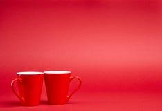 Красная предпосылка с кружками Стоковое Изображение RF