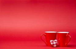 Красная предпосылка с кружками Стоковые Фото