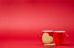 Красная предпосылка с кружками Стоковые Изображения RF