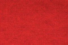 Красная предпосылка текстуры скатерти, конец вверх Стоковое Фото