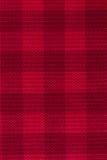 Красная предпосылка текстуры ткани шотландки Стоковые Изображения