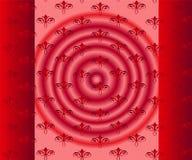 Красная предпосылка, флористическое безшовное Стоковые Фотографии RF
