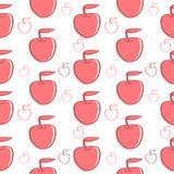 Красная предпосылка яблок Стоковое Изображение