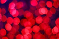 Красная предпосылка bokeh Стоковая Фотография