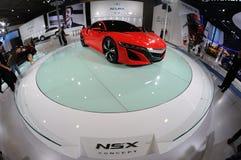 Красная принципиальная схема Acura NSX стоковая фотография
