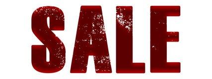 Красная продажа сатинировки стоковое фото