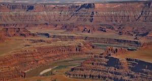 Красная пустыня, национальный парк Canyonlands, Стоковые Фотографии RF