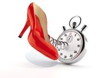 Красная пятка с секундомером бесплатная иллюстрация