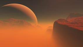 Красная планета 4 Иллюстрация вектора