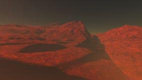 Красная планета 1 Иллюстрация вектора
