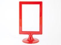 Красная пластичная рамка фото стоковые изображения rf