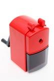 Красная пластичная точилка для карандашей Стоковое Изображение RF
