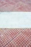 Красная плитка и белизна Стоковое Изображение