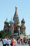 Красная площадь Москвы собора базилика s St стоковая фотография rf