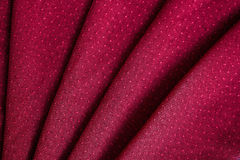 Красная развевали текстура ткани, который Стоковая Фотография