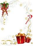 Красная рамка вертикали подарков рождества бесплатная иллюстрация